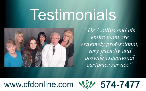Testimonials for Collins Family and Implant Dentistry